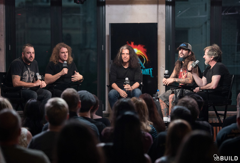 Metal Allegiance visit AOL Hq for Build on September 18, 2015 in New York. Photos by Noam Galai